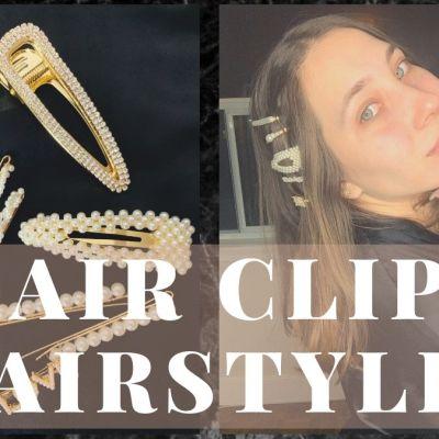 HAIR CLIPS HAIRSTYLES IDEAS